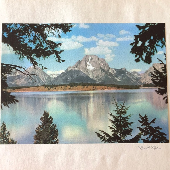 Vintage Other - 1940s photograph Grand Teton National Park